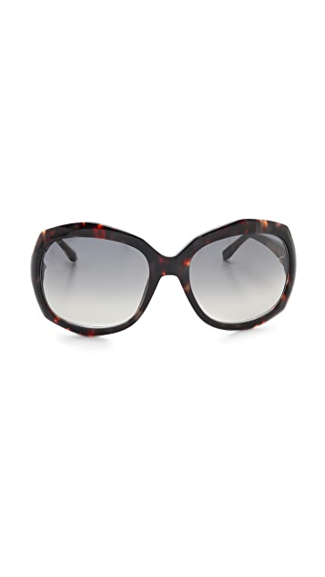 Saint Laurent Oversized Rounded Square Sunglasses