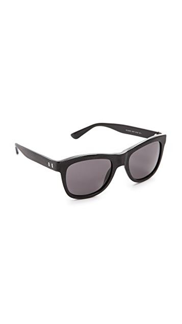 Saint Laurent Distressed Square Sunglasses