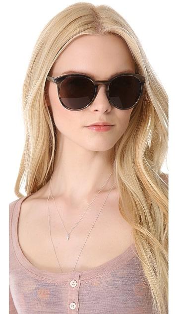 Saint Laurent Classic Preppy Round Sunglasses