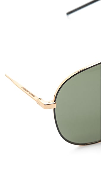 Saint Laurent Classic Metal Aviator Sunglasses
