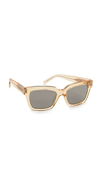 Saint Laurent Mirrored Square Sunglasses