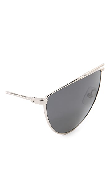Saint Laurent Flat Top Aviator Polarized Sunglasses