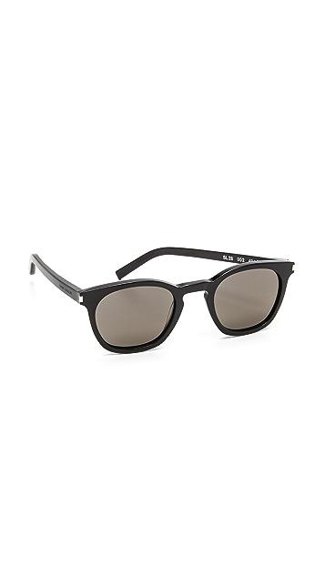 85c702f6eaf Saint Laurent SL 28 Mineral Glass Sunglasses | SHOPBOP