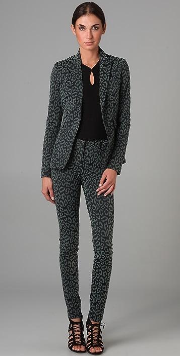 Zac Posen Leopard Pants