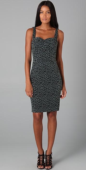 Zac Posen Leopard Bustier Dress