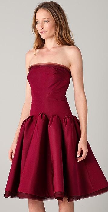 Zac Posen Strapless Dress with Full Skirt