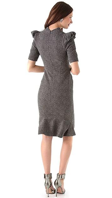 Zac Posen Stretch Tweed Dress