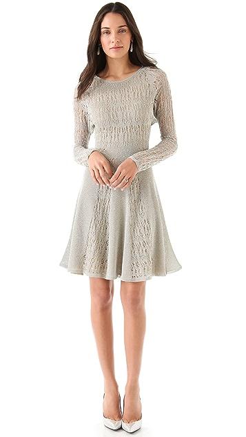Zac Posen Pointelle Lurex Dress