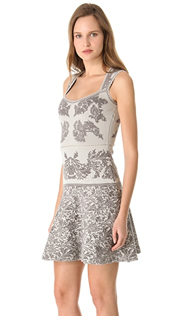 Zac Posen Jacquard Full Skirt Dress
