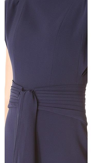 Zac Posen Sleeveless Dress with Cascade