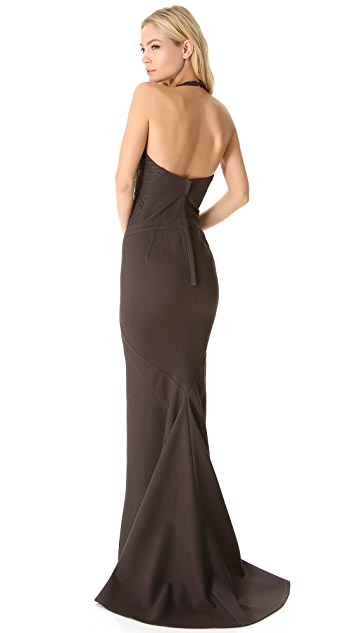 Zac Posen Mermaid Halter Gown