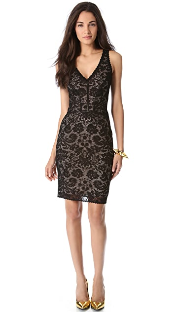Zac Posen Sleeveless Lace Dress