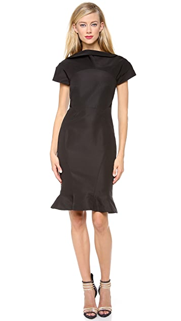 Zac Posen Silk Faille Cocktail Dress