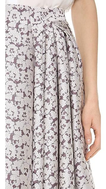 Zac Posen Jacquard Skirt