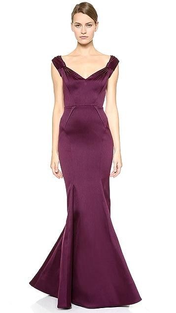 Zac Posen Stretch Duchesse Gown