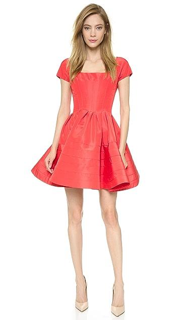 Zac Posen Faille Circle Dress
