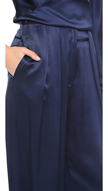 Zac Posen Silk Charmeuse Pants