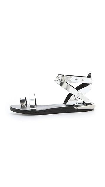 Zadig & Voltaire Pert Metallic Sandals