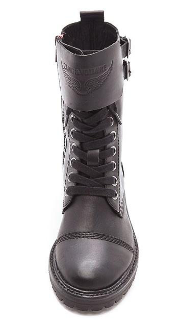 Zadig & Voltaire Joe Combat Boots