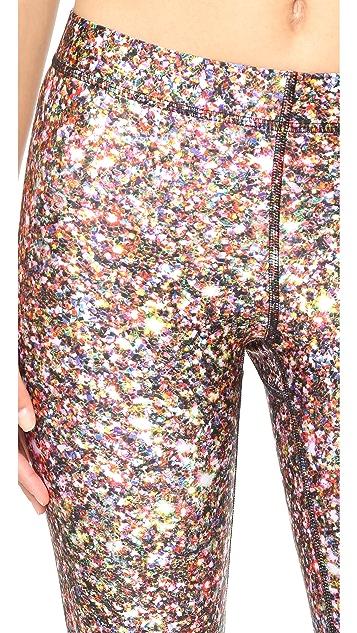 Terez Glitter Capri Leggings