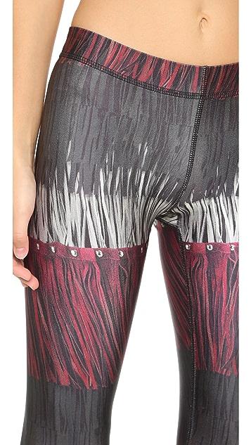 Terez Leather Fringe Performance Leggings