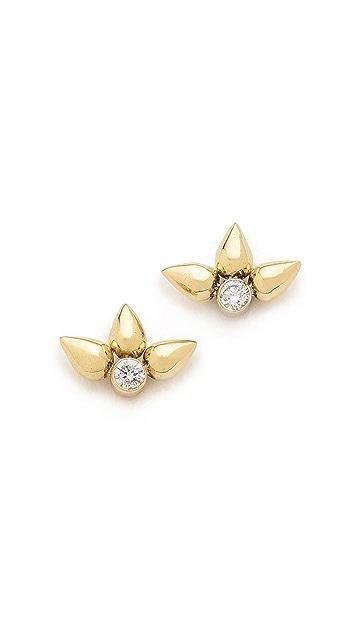 42c6164d223bc Tiny Bullet Cluster Stud Earrings
