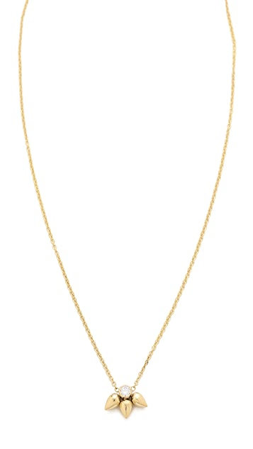 Zoe Chicco Tiny Bullet Cluster Necklace