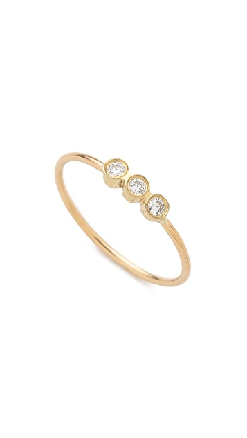 Zoe Chicco 3 Bezel Set Ring