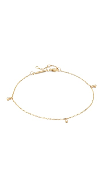 Zoe Chicco 14k Gold Dangling Diamond Anklet