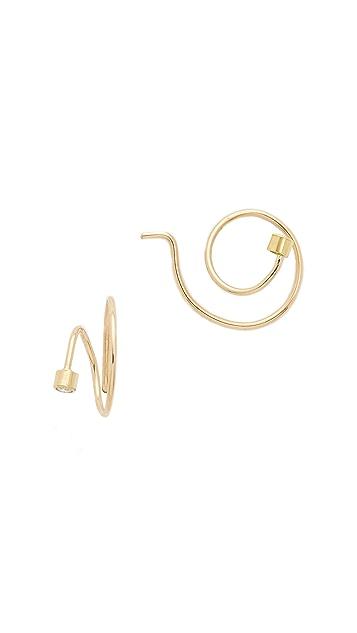 Zoe Chicco Swirl Hoop Earrings