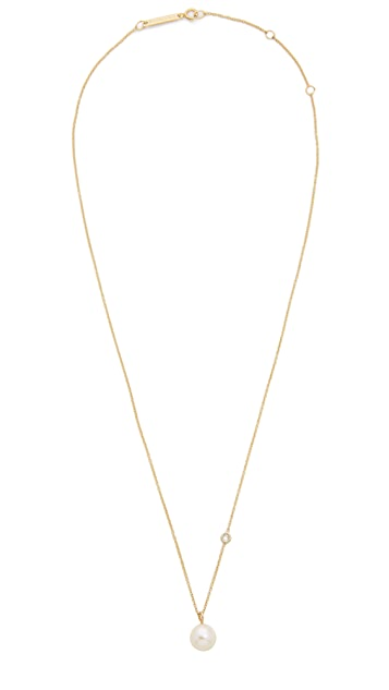 Zoe Chicco 14k Gold Necklace with Floating Diamond