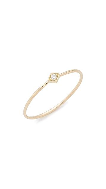 Zoe Chicco 14K 金菱形钻石戒指