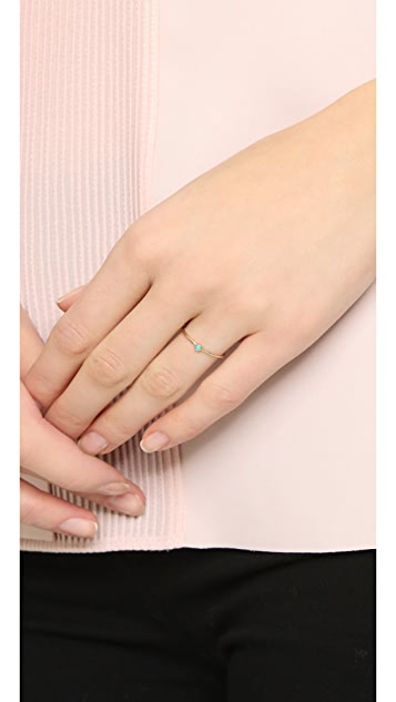 Zoe Chicco 14k Gold Tiny Turquoise Ring