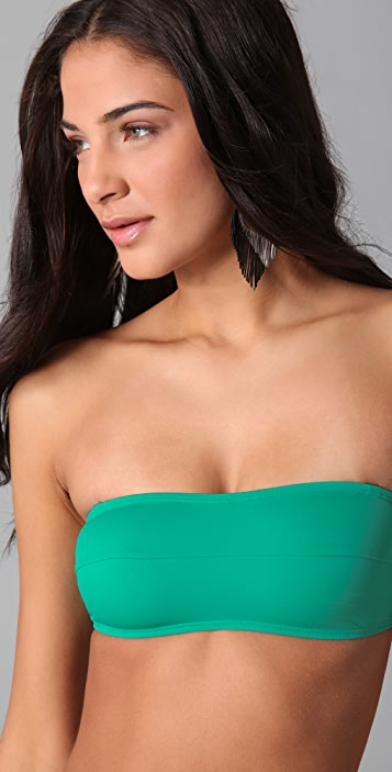 Zero + Maria Cornejo Oona Bandeau Bikini Top