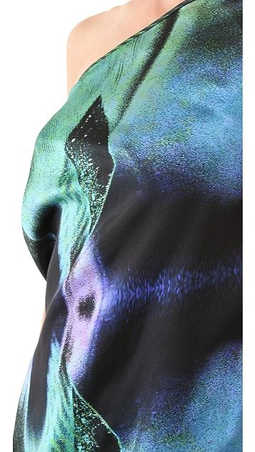 Zero + Maria Cornejo Print One Shoulder Dress