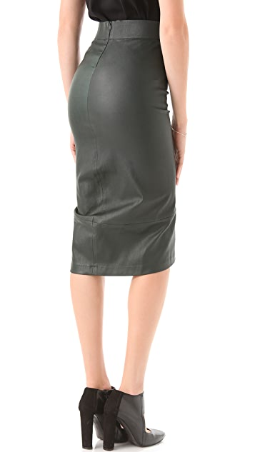 Zero + Maria Cornejo Stretch Leather Isis Skirt