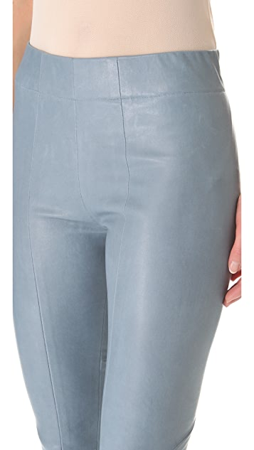 Zero + Maria Cornejo Leather One Seam Pants