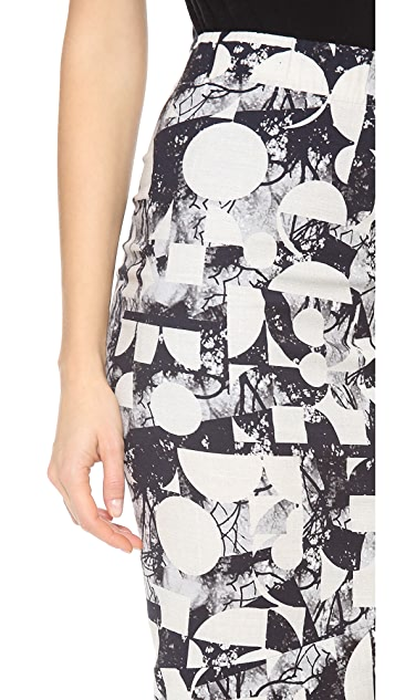Zero + Maria Cornejo Geo Tree Print Isis Skirt