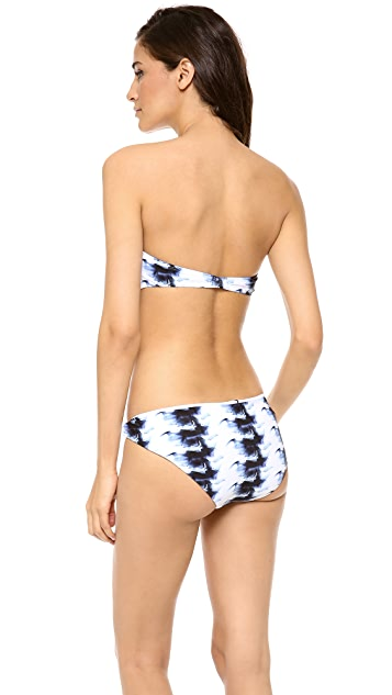 Zero + Maria Cornejo Sim Bandeau Bikini Top