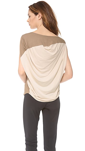 Zero + Maria Cornejo Side Drape Top