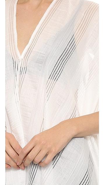Zero + Maria Cornejo Lace Stripe Lena Top