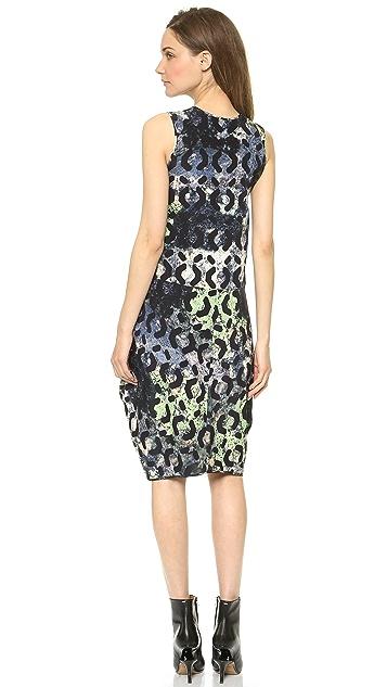 Zero + Maria Cornejo Silk Moss Print Sima Dress
