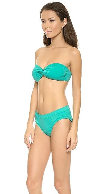 Zero + Maria Cornejo Anamur Belu Bandeau Bikini Top