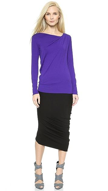 Zero + Maria Cornejo Sim Jersey Long Spiral Skirt