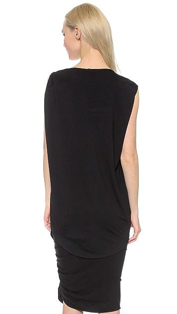 Zero + Maria Cornejo Side Drape Mini Tunic
