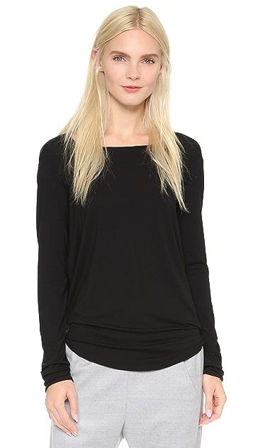 Zero + Maria Cornejo Long Sleeve Side Drape Top