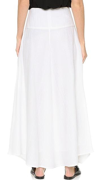 Zero + Maria Cornejo Crinkle Stripe Nadi Maxi Skirt