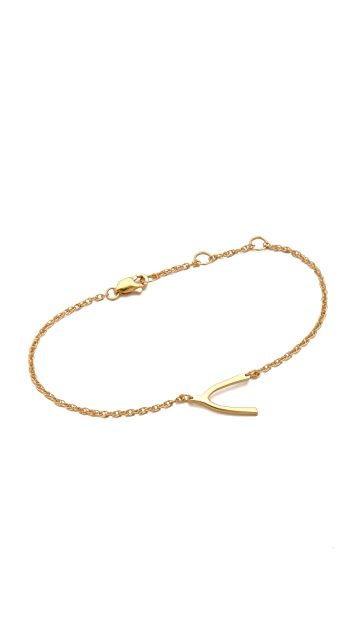 Jennifer Zeuner Jewelry Mini Wishbone Bracelet