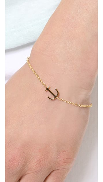 Jennifer Zeuner Jewelry Mini Anchor Charm Bracelet