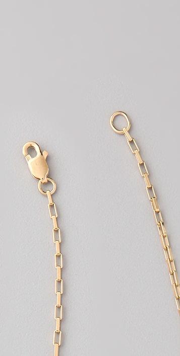 Jennifer Zeuner Jewelry Long Skinny Good Luck Hamsa Necklace